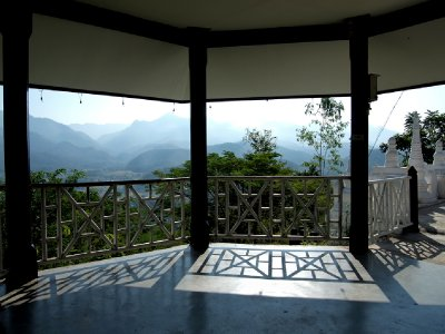 View of Mai Pai valley from a pagoda at Wat Phra That