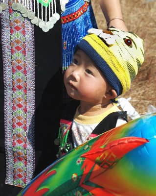 Little Hmong boy at festival