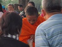 Monk accepted alms
