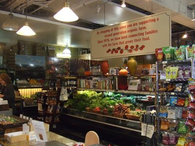 Organic Grocers Shop at the Terminal building