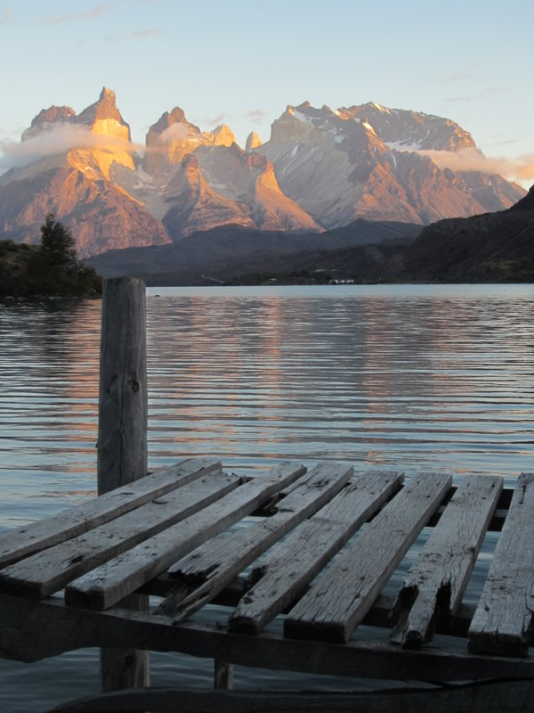 View from our tent in Torres Del Paine