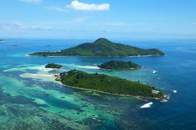 Birds eye view of Seychelles
