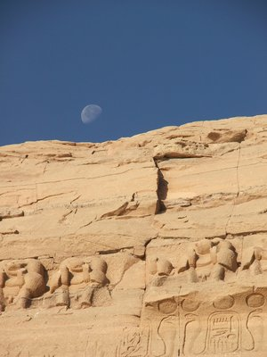 Abu Simbel and Moon