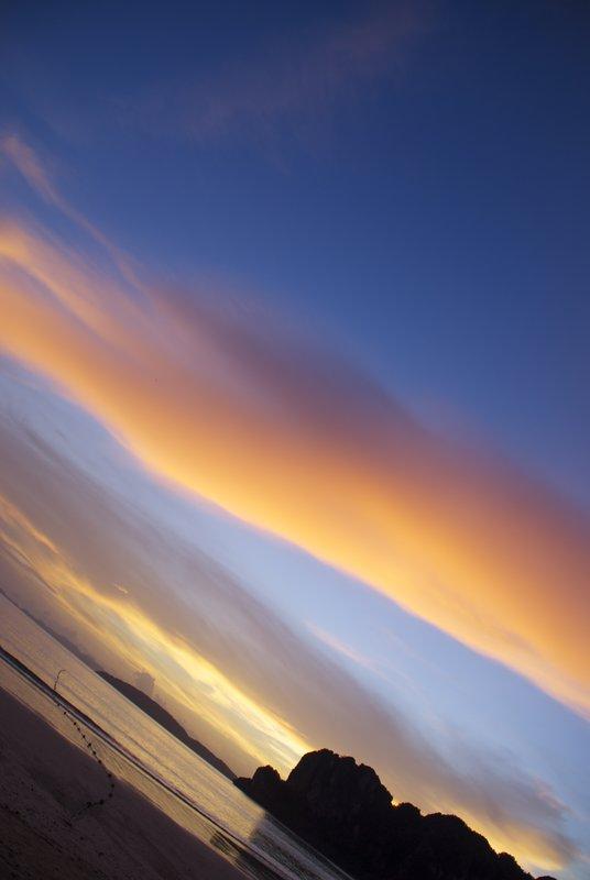 Sunset at Krabi Beach