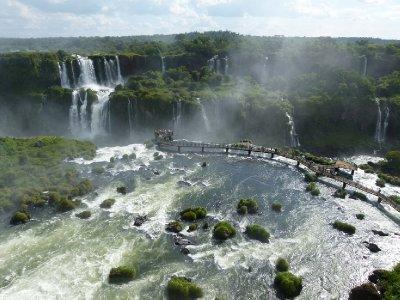 4. Walkway literally over the edge.  Foz do Iguazu, Brazil
