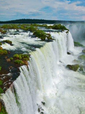 7. An immense amount of water. Foz do Iguazu, Brazil