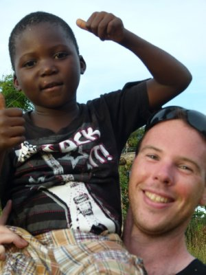 1 Mike with local Malawian boy