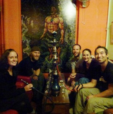1. Gitte, Stig, Mike, Me and Richard.  The night we left the jungle.  Dinner, drinks and shisha in a 'real' restaurant.