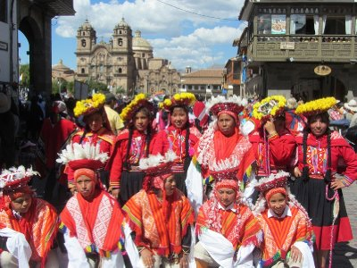 2. CUSCO One of many dancing groups on Sunday