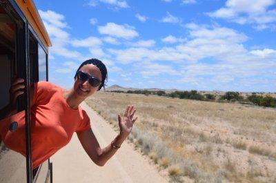 3. Driving through desert