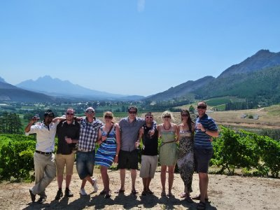 3. The group, wine tasting, Stellenbosch, SA