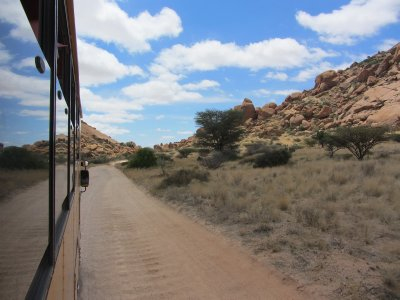 4. Driving through some more desert