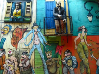 4. Street art, La Boca district 1