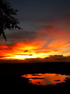 4. Sunset at Watering hole, Etosha National Park