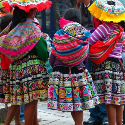 5. CUSCO  Colourful clothes everywhere