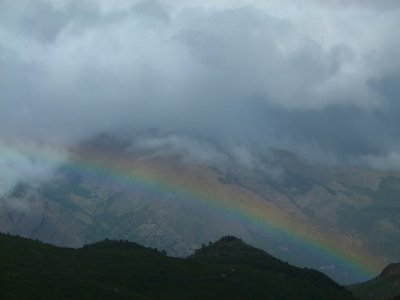 5. Cerro Catedral, 1 day walk.  Lots of rain but a pretty rainbow on the way down
