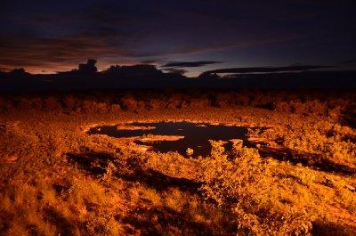 5. Chris P's photo, Watering hole at night, Etosha National Park