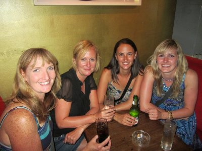 6. Final night drinks, the girls' before photo, Cape Town, SA