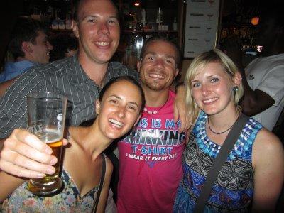 7. Final night drinks, Mike, Chris P, Kat and I, Cape Town, SA