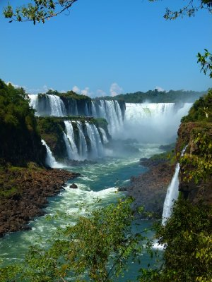 7. Walking along the lower circuit, Iguazu Falls