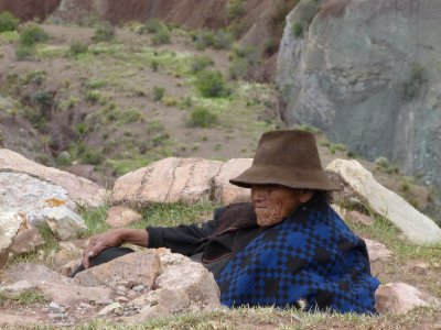 8. Local woman chewing coca leaves, just chilling