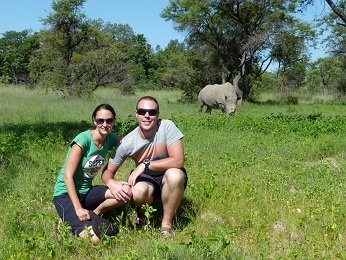 Mike and I with the Rhino