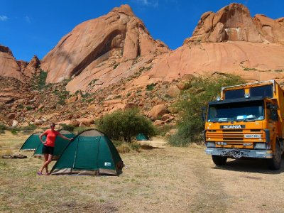a. Not a bad view from our tents...