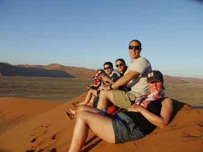 q. Hussain's photo.  The group at Dune 45 watching sunset