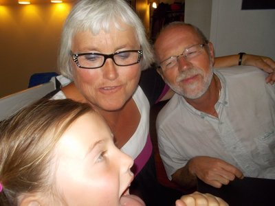 Kos - jubilant med bestemor og bestefar