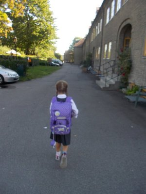 Kos - Lilou første skoledag