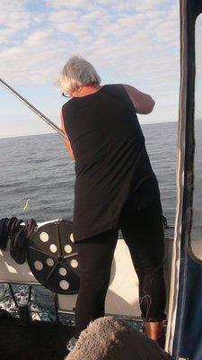Kos - dorger makrell i 8 knops fart....