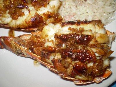 Delicious fresh lobster