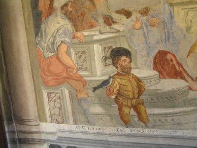 ITALY_Castelfranco Veneto - fresque (fragment)