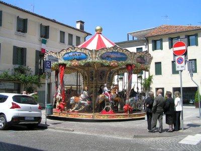 ITALY_Castelfranco Veneto - carousel (merry-go-round)
