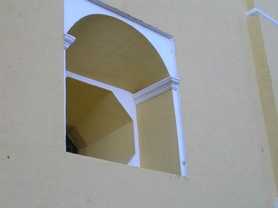 GUATEMALA - Antigua - yellow church window