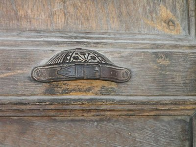 GUATEMALA, Antigua - door handle