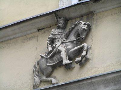 Horse rider on Neubaugasse (Vienna)