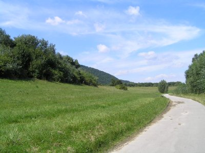 VIENNA_grass, road and sky of Donauinsel