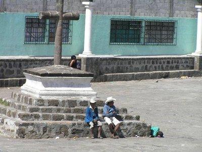 GUATEMALA - Lago Atitlan - Santiago Atitlan - cowboys