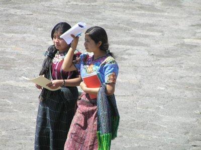 GUATEMALA - Lago Atitlan - Santiago Atitlan - students