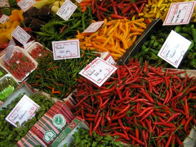 GERMANY - chilli pepper at Munich's Market (Viktualienmarkt)