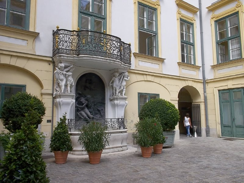 AUSTRIA_VIENNA_1st district - Fontain of Andromeda in the yard of Altes Rathaus