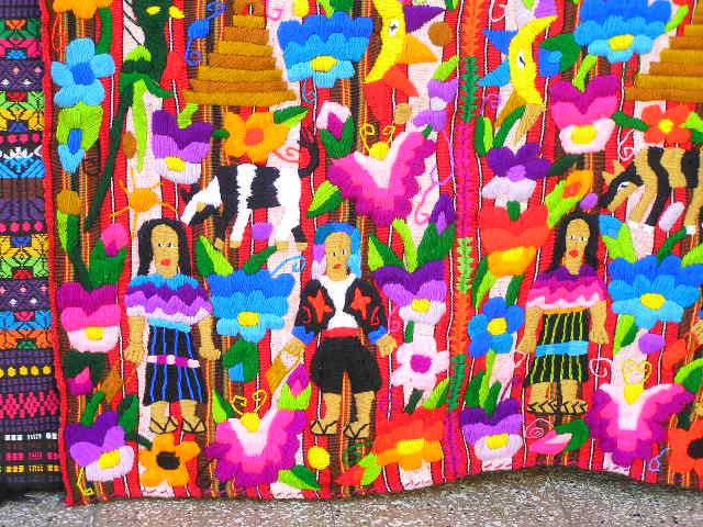 GUATEMALA - Lago Atitlan - Santiago Atitlan - textile