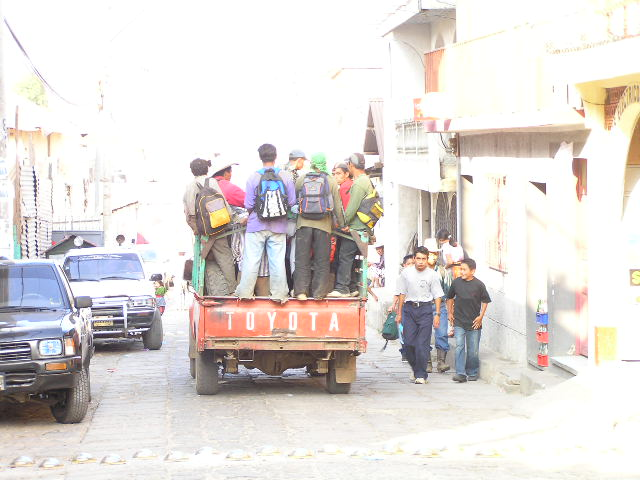 GUATEMALA - Lago Atitlan - San Pedro la Laguna -school bus