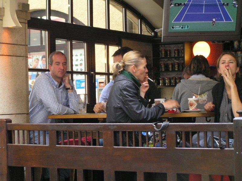 GERMANY - cafe in Munich's Market (Viktualienmarkt)