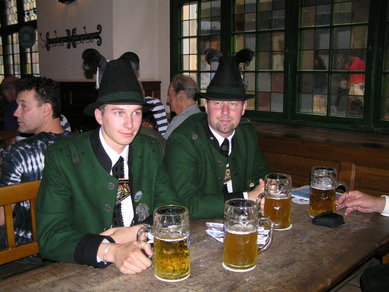 GERMANY_Munich - beer in Hofbräuhaus