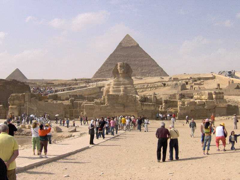 At the Pyramids of Giza