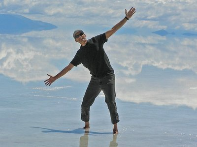 13,000 feet above sea level on the Salar de Uyuni, Bolivia