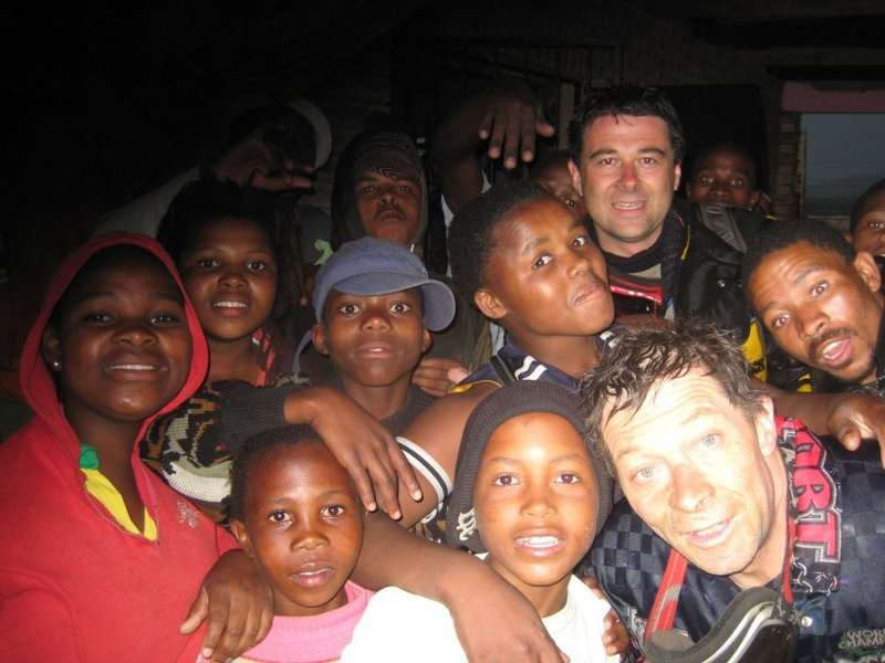 me, colin and the local shop kids