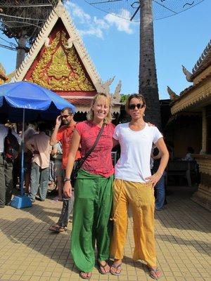 Cindy and Susanna at Royal Palace